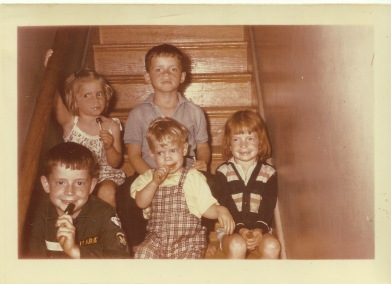 1960, Al, Brian, Sheila, Ellen, James